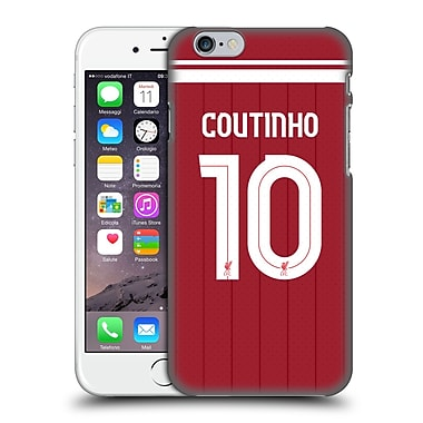 Official Liverpool Football Club Players Home Kit 17/18 Group 1 Philippe Coutinho Hard Back Case For Apple Iphone 6 / 6S