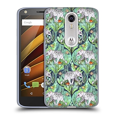 Official Micklyn Le Feuvre Animals Little Elephants On Jungle Adventure Soft Gel Case For Droid Turbo 2 / X Force