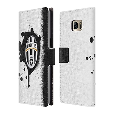 Official Juventus Football Club Lifestyle Splat Leather Book Wallet Case Cover For Samsung Galaxy S7 Edge