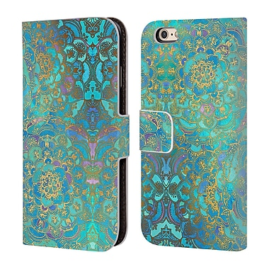 Official Micklyn Le Feuvre Mandala Sapphire And Jade Leather Book Wallet Case Cover For Apple Iphone 6 / 6S