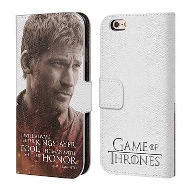 Official HBO Game Of Thrones Character Portraits Jaime Lannister Leather Book Wallet Case Cover For Apple Iphone 6 / 6S