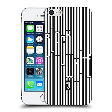 Official Juventus Football Club Black & White Stripes 2 Hard Back Case For Apple Iphone 5 / 5S / Se
