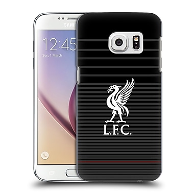 Official Liverpool Football Club Liver Bird White On Black Kit Hard Back Case For Samsung Galaxy S7