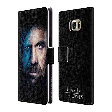 Official HBO Game Of Thrones Valar Morghulis Sandor Clegane Leather Book Wallet Case Cover For Samsung Galaxy S7 Edge