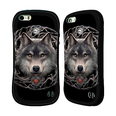 Official Anne Stokes Wolves 2 Night Forest Hybrid Case For Apple Iphone 5 / 5S / Se
