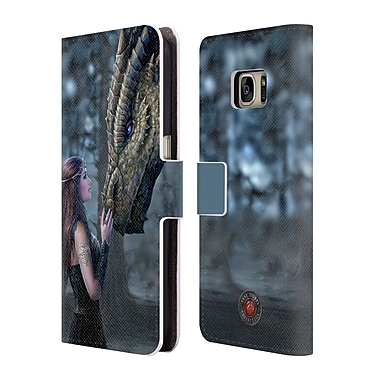 Official Anne Stokes Dragon Friendship Once Upon A Time Leather Book Wallet Case Cover For Samsung Galaxy S7