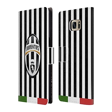Official Juventus Football Club Crest Italia Stripes Leather Book Wallet Case Cover For Samsung Galaxy S7 Edge