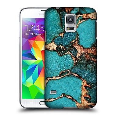 Official Monika Strigel Gemstone And Gold Turqouise Hard Back Case For Samsung Galaxy S5 / S5 Neo