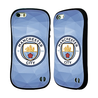 Official Manchester City Man City Fc Badge Geometric Blue Full Colour Hybrid Case For Apple Iphone 5 / 5S / Se