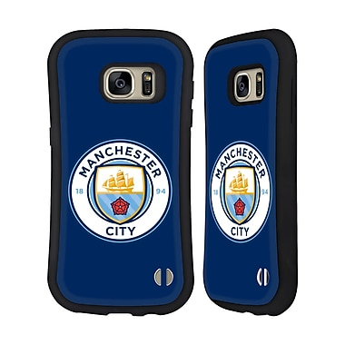 Official Manchester City Man City Fc Badge Obsidian Full Colour Hybrid Case For Samsung Galaxy S7