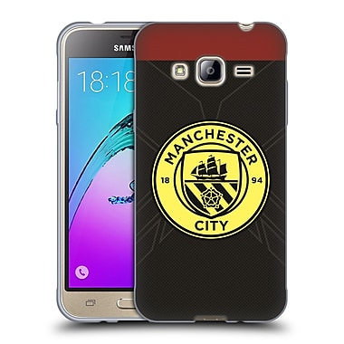 Official Manchester City Man City Fc Badge Kit 2016/17 Away Soft Gel Case For Samsung Galaxy J3