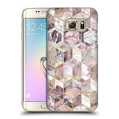 Official Micklyn Le Feuvre Marble Patterns Blush Quartz Honeycomb Hard Back Case For Samsung Galaxy S7 Edge