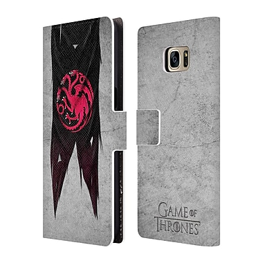Official HBO Game Of Thrones Sigil Flags Targaryen Leather Book Wallet Case Cover For Samsung Galaxy S7 Edge