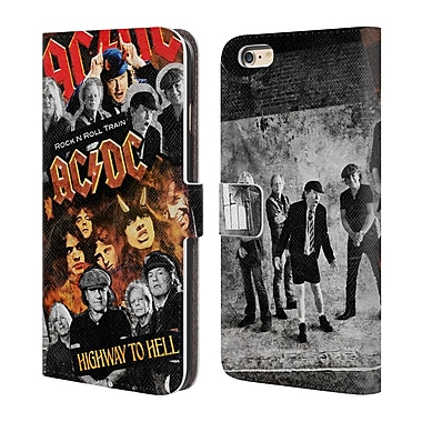 Official AC/DC Acdc Collage Group Leather Book Wallet Case Cover For Apple Iphone 6 Plus / 6S Plus