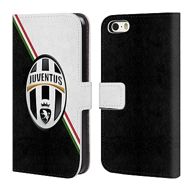 Official Juventus Football Club Crest Italia Leather Book Wallet Case Cover For Apple Iphone 5 / 5S / Se