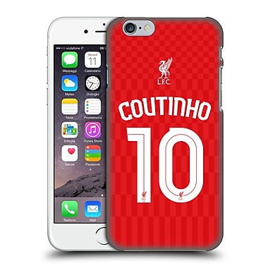 Official Liverpool Football Club Shirt Home Shirt Red Coutinho Hard Back Case For Apple Iphone 6 / 6S