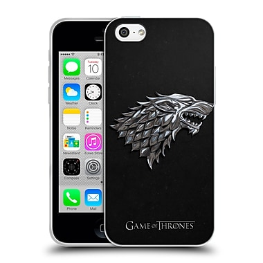 Official HBO Game Of Thrones Sigils Silver Stark Soft Gel Case For Apple Iphone 5C