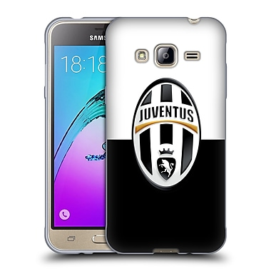 Official Juventus Football Club Crest Black And White Soft Gel Case For Samsung Galaxy J3