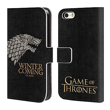 Official HBO Game Of Thrones House Mottos Stark Leather Book Wallet Case Cover For Apple Iphone 5 / 5S / Se