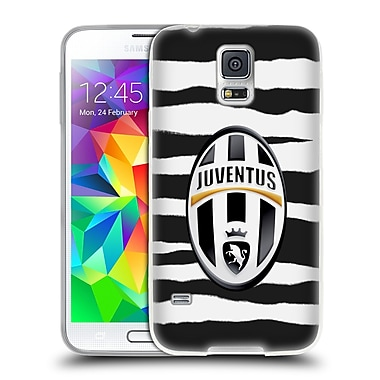 Official Juventus Football Club Lifestyle Zebra Stripes Soft Gel Case For Samsung Galaxy S5 / S5 Neo
