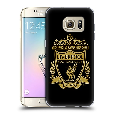 Official Liverpool Football Club Crest 1 Black 3 Soft Gel Case For Samsung Galaxy S7 Edge