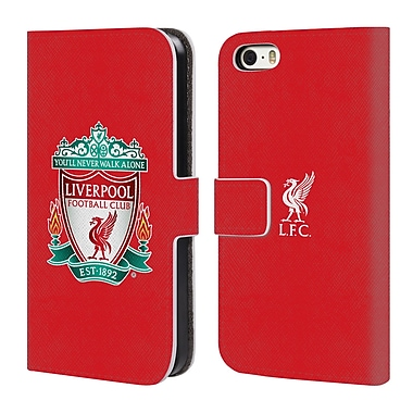 Official Liverpool Football Club Crest 1 Red 1 Leather Book Wallet Case Cover For Apple Iphone 5 / 5S / Se