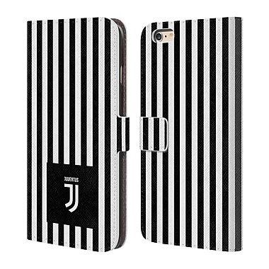 Juventus Football Club Lifestyle 2 Black & White Stripes Leather Book Wallet Case Cover For Apple Iphone 6 Plus / 6S Plus