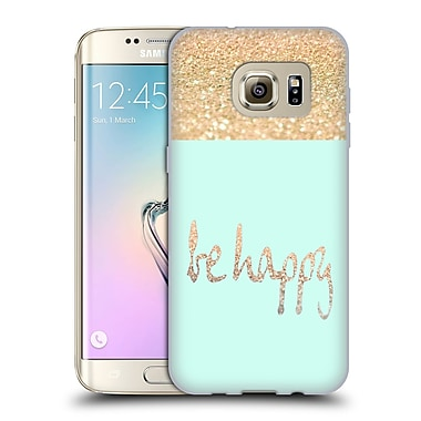 Official Monika Strigel Gold And Happy Date Soft Gel Case For Samsung Galaxy S7 Edge