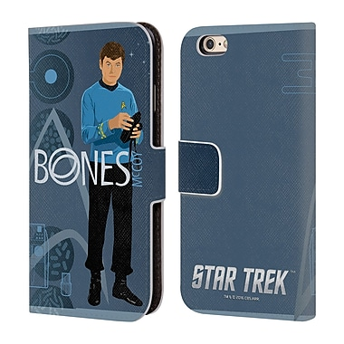 Official Star Trek Iconic Characters Tos Doctor Mccoy Leather Book Wallet Case Cover For Apple Iphone 6 / 6S