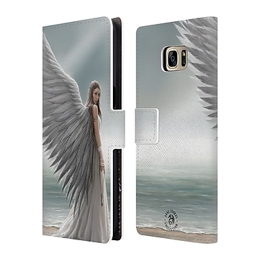 Official Anne Stokes Angels Spirit Guide Leather Book Wallet Case Cover For Samsung Galaxy S7 Edge