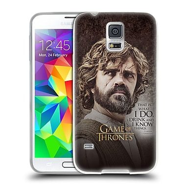 Official HBO Game Of Thrones Character Quotes Tyrion Lannister Soft Gel Case For Samsung Galaxy S5 / S5 Neo