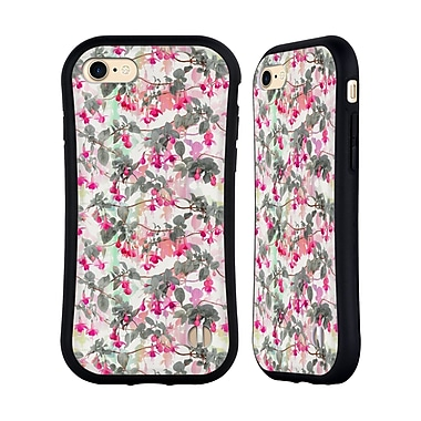 Official Micklyn Le Feuvre Florals 2 Rainbow Fuchsia Floral Pattern Hybrid Case For Apple Iphone 7 / 8