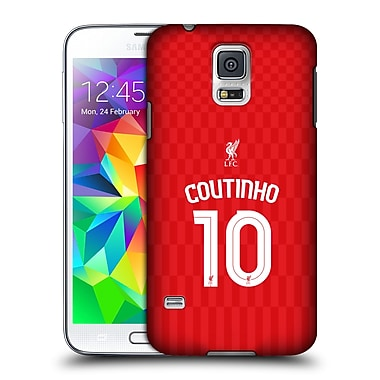 Official Liverpool Football Club Shirt Home Shirt Red Coutinho Hard Back Case For Samsung Galaxy S5 / S5 Neo