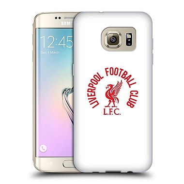 Official Liverpool Football Club Liver Bird Red Lfc On White Soft Gel Case For Samsung Galaxy S7 Edge