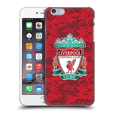 Official Liverpool Football Club Digital Camouflage Home Red Crest Hard Back Case For Apple Iphone 6 Plus / 6S Plus