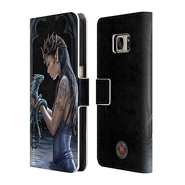 Official Anne Stokes Dragon Friendship Water Leather Book Wallet Case Cover For Samsung Galaxy S7