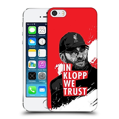 Official Liverpool Football Club Jurgen Klopp Stare Red Hard Back Case For Apple Iphone 5 / 5S / Se