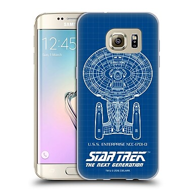 Official Star Trek Ships Of The Line Tng Uss Enterprise Ncc-1701-D Soft Gel Case For Samsung Galaxy S7 Edge
