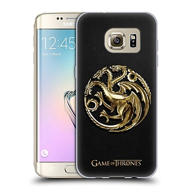 Official HBO Game Of Thrones Sigils Gold Targaryen Soft Gel Case For Samsung Galaxy S7 Edge
