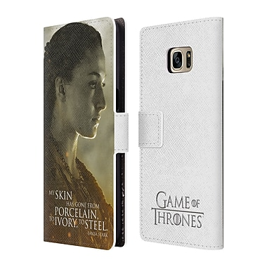 Official HBO Game Of Thrones Character Portraits Sansa Stark Leather Book Wallet Case Cover For Samsung Galaxy S7 Edge