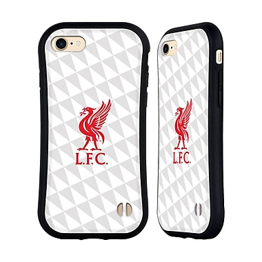 Official Liverpool Football Club Liver Bird Red On White Kit Hybrid Case For Apple Iphone 7 / 8