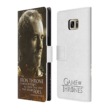 Official HBO Game Of Thrones Character Portraits Stannis Baratheon Leather Book Wallet Case Cover For Samsung Galaxy S7 Edge