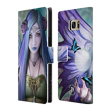 Official Anne Stokes Fairies Mystic Aura Leather Book Wallet Case Cover For Samsung Galaxy S7 Edge