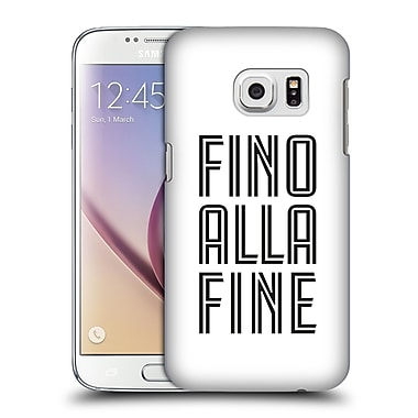 Official Juventus Football Club Type Fino Alla Fine White Hard Back Case For Samsung Galaxy S7