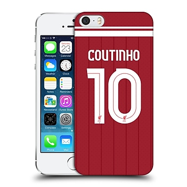 Official Liverpool Football Club Players Home Kit 17/18 Group 1 Philippe Coutinho Hard Back Case For Apple Iphone 5 / 5S / Se