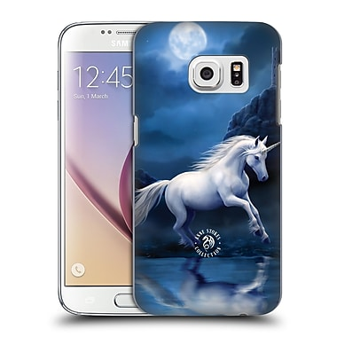 Official Anne Stokes Mythical Creatures Moonlight Unicorn Hard Back Case For Samsung Galaxy S7