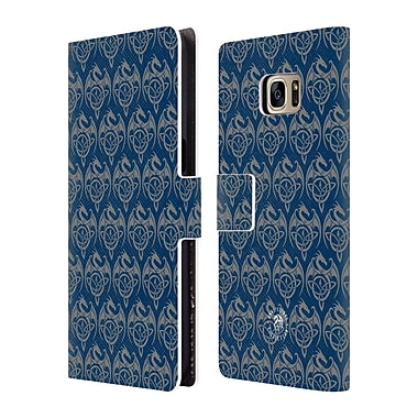 Official Anne Stokes Motif Patterns Celtic Dragon Leather Book Wallet Case Cover For Samsung Galaxy S7 Edge