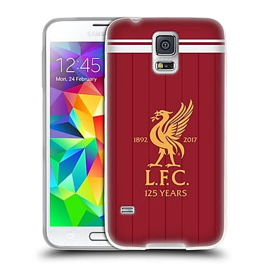 Official Liverpool Football Club Kit 2017/18 Liver Bird Home Shirt Soft Gel Case For Samsung Galaxy S5 / S5 Neo