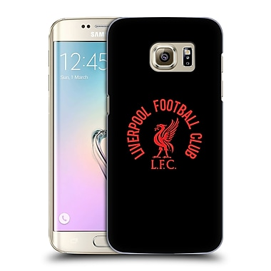 Official Liverpool Football Club Liver Bird Red Lfc On Black Hard Back Case For Samsung Galaxy S7 Edge
