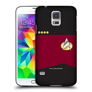 Official Star Trek Uniforms And Badges Tng Captain Hard Back Case For Samsung Galaxy S5 / S5 Neo